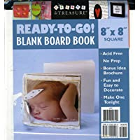 Ready-to-Go Blank Board Book White 8 X 8 Square