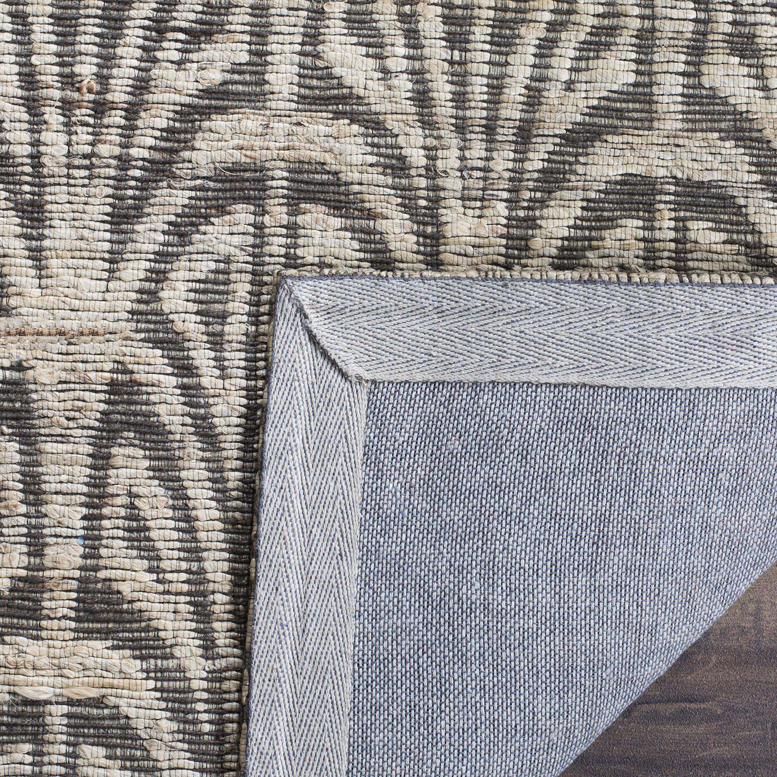 Safavieh CAP501B-5 Cape Cod Collection Flat Weave Handmade Area Rug, 5' x 8', Light Beige/Grey by Safavieh (Image #3)