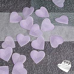EinsSein 100x Rosenblüten Herz 4cm Flieder Dekoration Blüten Blumen Hochzeit Streudeko Konfetti