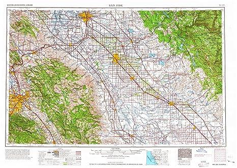 Amazon.com : San Jose CA topo map, 1:250000 scale, 1 X 2 Degree ...