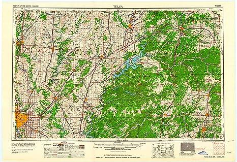 Amazon Com Yellowmaps Tulsa Ok Topo Map 1 250000 Scale 1 X 2