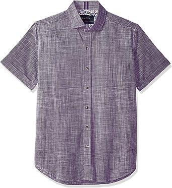 Robert Graham Mens Abbott Short Sleeve Slim Fit Shirt