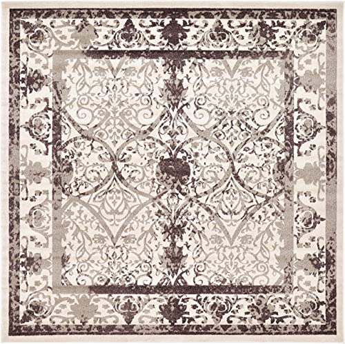 Reviewed: Unique Loom La Jolla Collection Tone-on-Tone Traditional Beige Square Rug 10' 0 x 10' 0