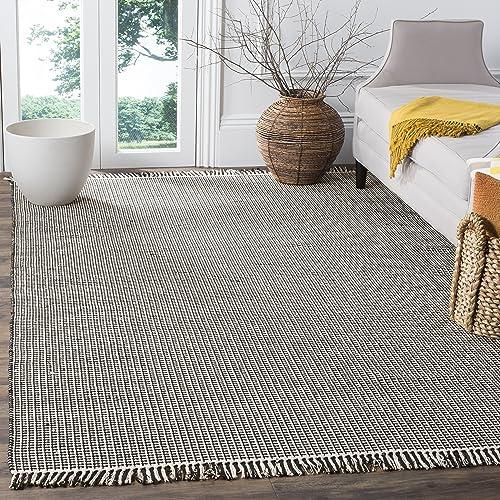 Safavieh Montauk Collection MTK340D Handmade Flatweave Cotton Area Rug