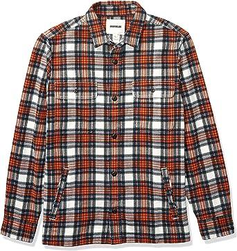 Marca Amazon - Goodthreads - Chaqueta de estilo camisa de franela muy resistente para hombre, Naranja (Rust White Tartan Plaid), (Talla del fabricante: XX-Large Tall): Amazon.es: Ropa y accesorios