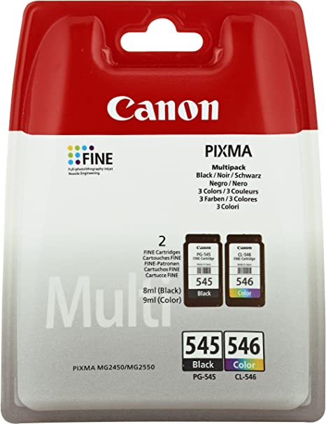 Amazon.com: Canon PG-545/CL-546 Multi-pack (Black,Cyan ...