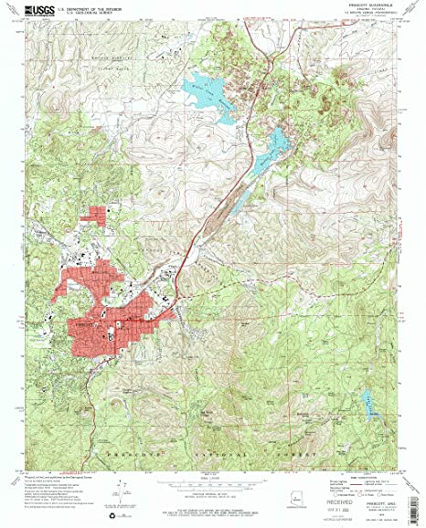 Amazon Com Yellowmaps Prescott Az Topo Map 1 24000 Scale 7 5 X