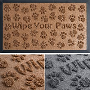 Extra Durable Door Mat 30x18 - Welcome Mats for Front Door - Indoor Door Mat - Entryway Rug - Outdoor Doormats - Dog Food Mat - Rugs for Entryway