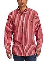 U.S. Polo Assn. Men's Woven Shirt With Striped Pattern