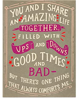 Amazon hallmark funny fathers day greeting card for american greetings funny amazing life fathers day card for husband with foil 6051664 m4hsunfo