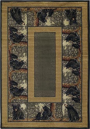 United Weavers of America Hautman Bear Family 5 3 x 7 6 Rug, Multicolor, Room Size