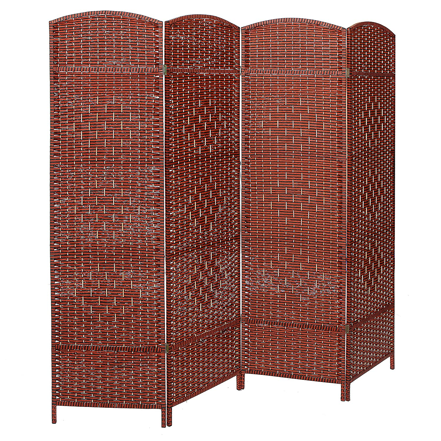 Http Www Ebay Com Itm Decorative Freestanding 4 Hinged Panel Woven Brown Wood Privacy Room Divider Par 152242578153