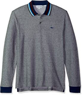 cd70cbc15 Lacoste Men s Long Sleeve Reg Fit Made in France Pique Polo at ...