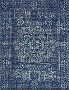 Unique Loom Tradition Collection Classic Southwestern Navy Blue Area Rug (9' 0 x 12' 0)