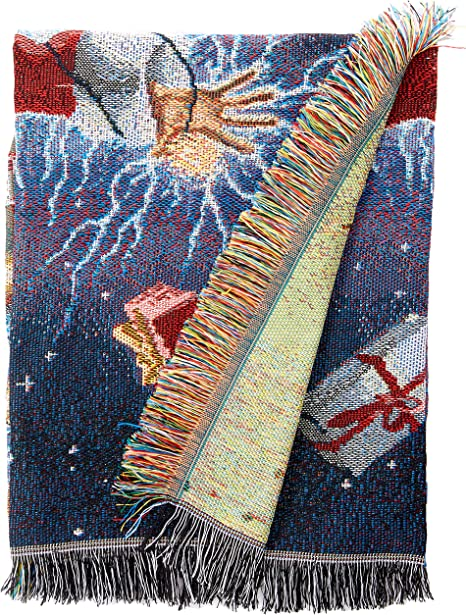 Warner Bros National Lampoons Christmas Vacation Shocking Chevy Woven Tapestry Throw Blanket 48 X 60 Home Kitchen
