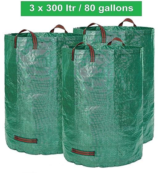 30 opinioni per Sacco da giardino- 300 litri di volume- Set da 3 pezzi- Sacco per rifiuti da