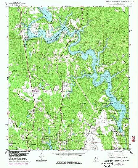 Amazon.com : YellowMaps Lake Tuscaloosa South AL topo map, 1:24000 ...