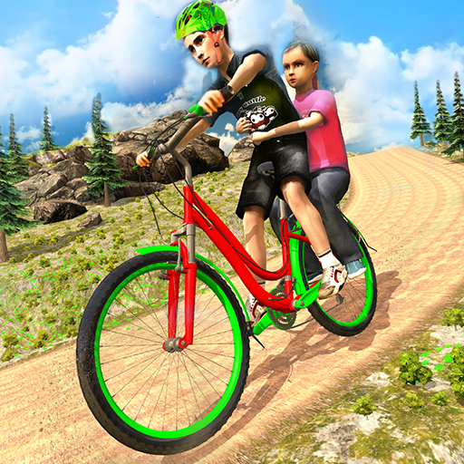 Kids BMX Bicycle Taxi Sim - Uphill Bicycle Racing - Edge Quad