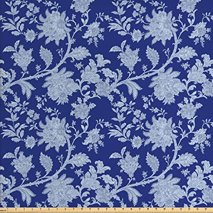 Amazon Ambesonne Floral Fabric By The Yard Classic Middle Gorgeous Middle Eastern Patterns