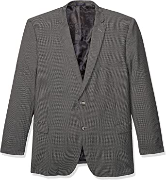 Adolfo Mens Black Modern Fit Classic Blazer