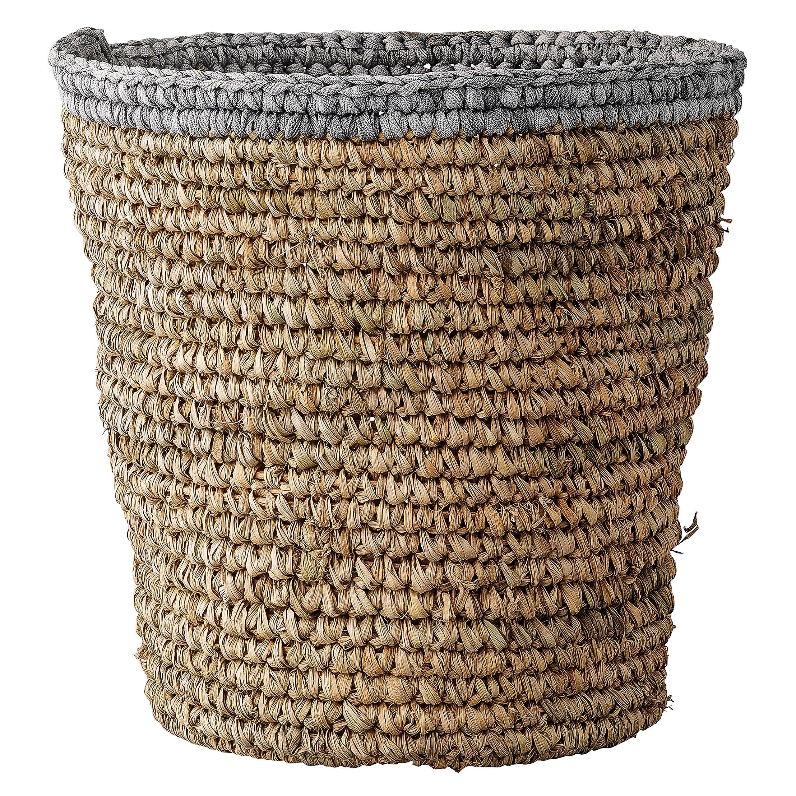 Bloomingville Raffia Basket with Grey Edge