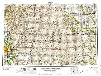 Amazon Com Yellowmaps Omaha Ne Topo Map 1 250000 Scale 1 X 2