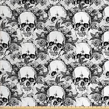 7c380c4d8e31 Amazon.com  Ambesonne Day of The Dead Decor Fabric by The Yard ...