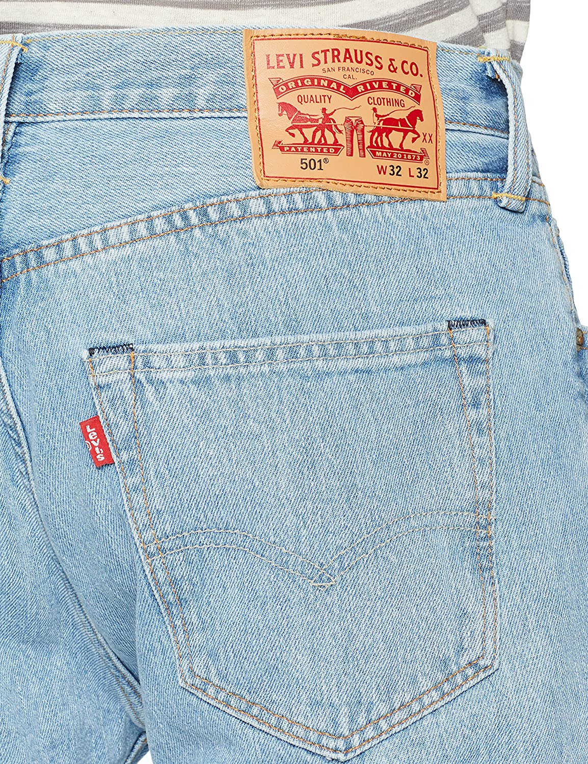 Seguro micrófono Relacionado  Levi's Men's 501 Original Fit Jeans, Blue at Amazon Men's Clothing store