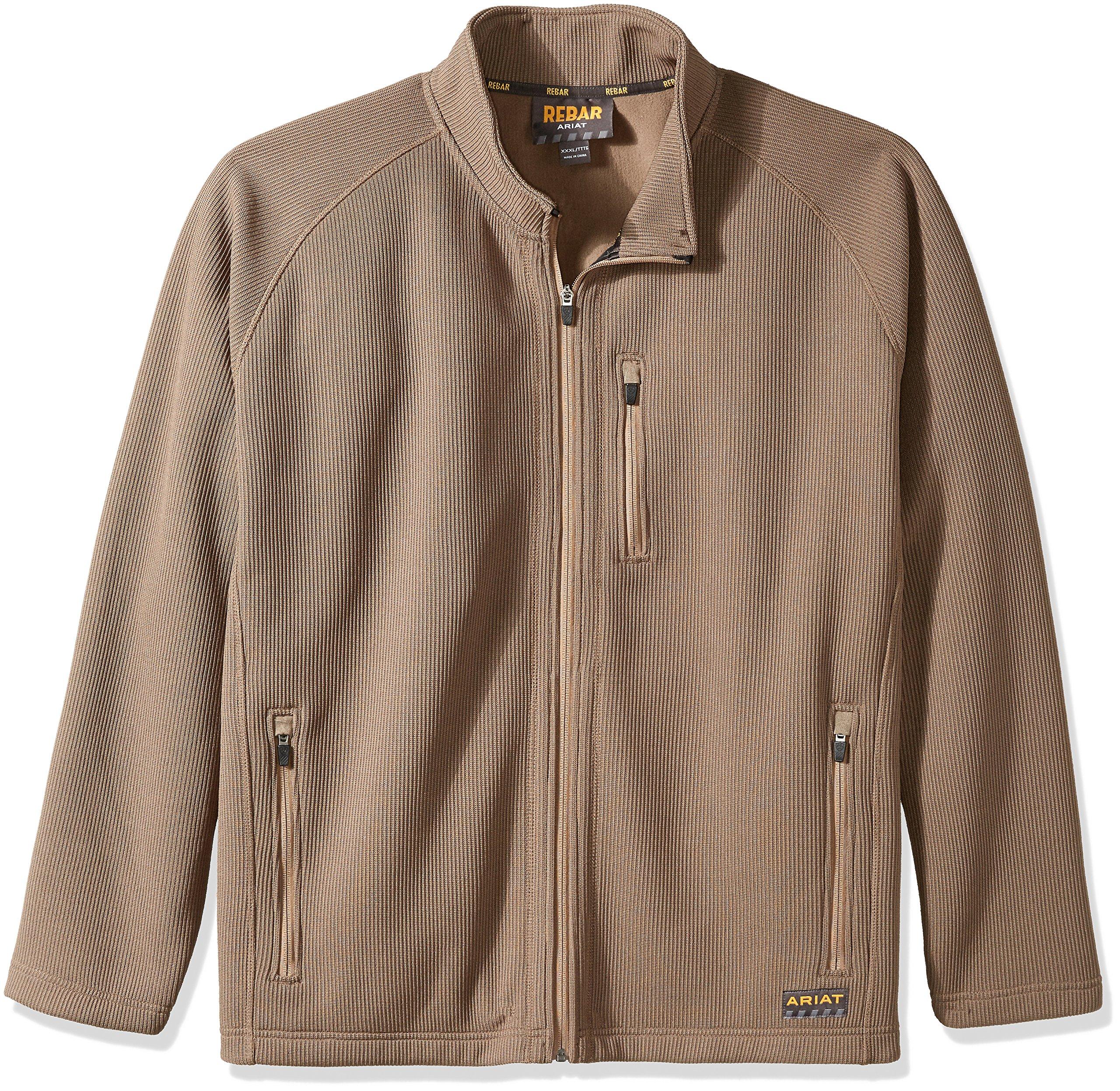 Ariat Men's Big REBAR Dura Tek Fleece Jacket, Morel, X-Large Tall