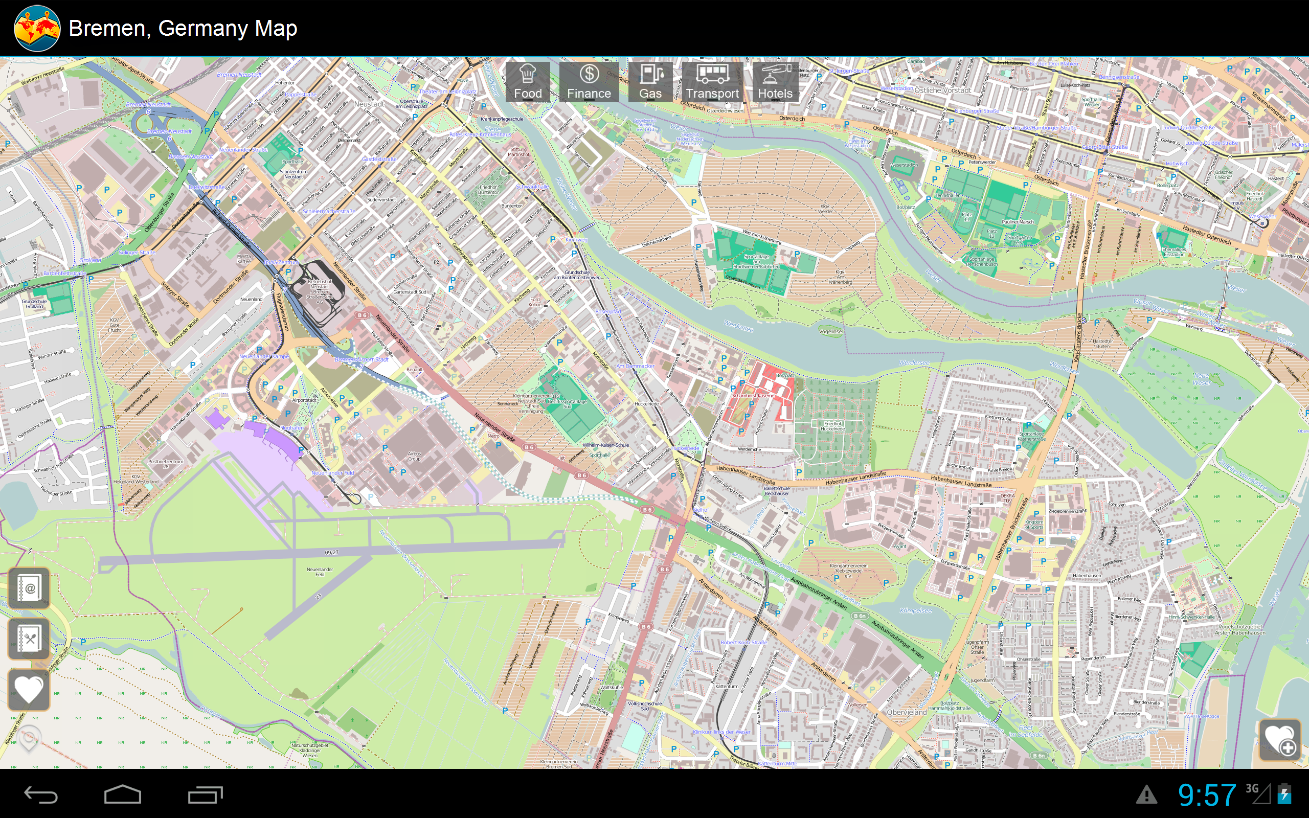 Bremen Germany Offline Map Mapping Services Amazoncomau