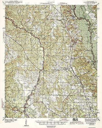 Florida Alabama Map.Amazon Com Topographical Map Muscogee Florida Alabama Quad