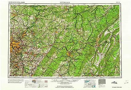Amazon.com : YellowMaps Pittsburgh PA topo map, 1:250000 ...
