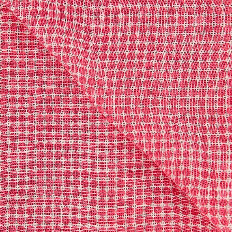 New Luigi Borrelli Red Linen Blend Scarf