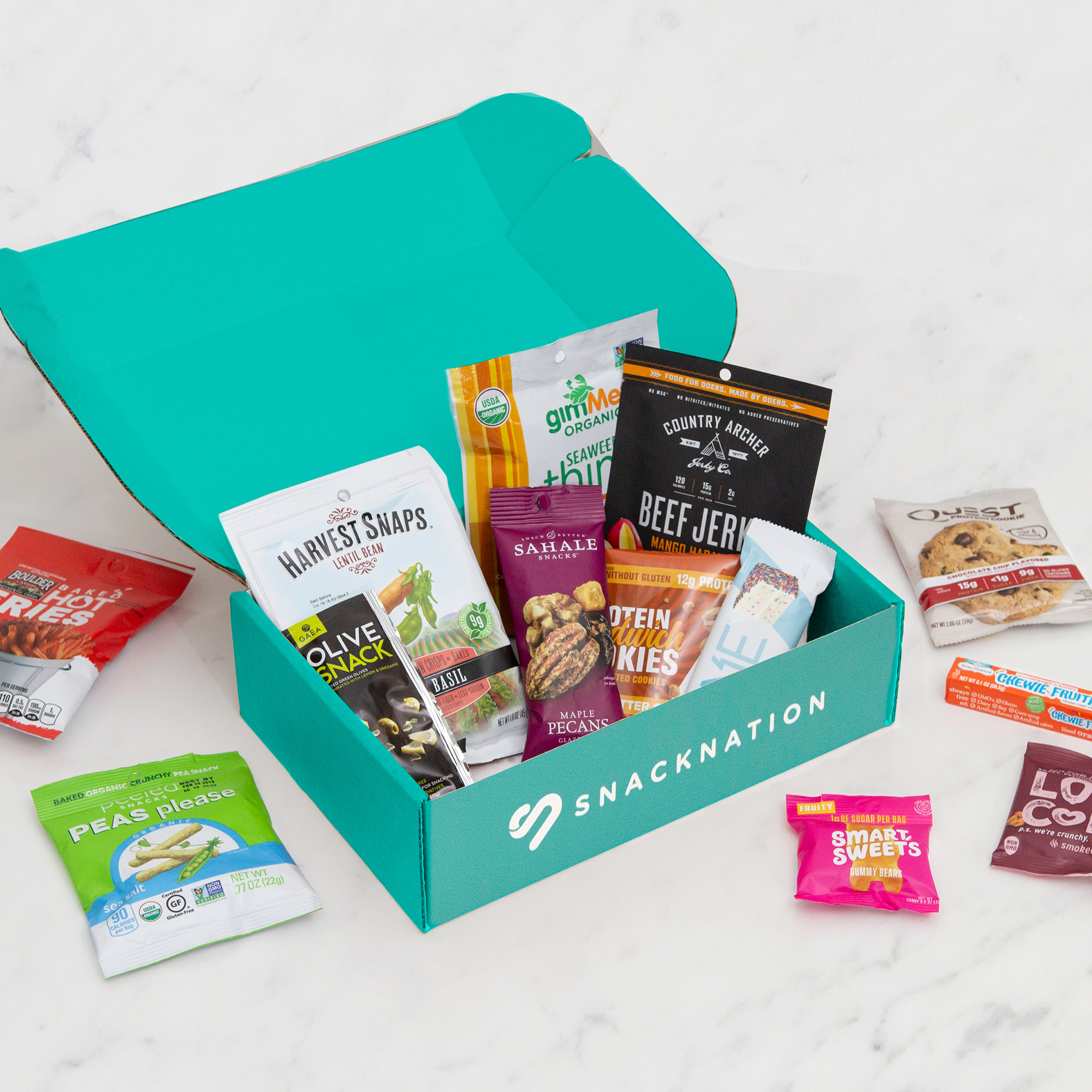 SnackNation - Expert Curated Delicious Healthier Snacks Subscription Box: 15 Snacks