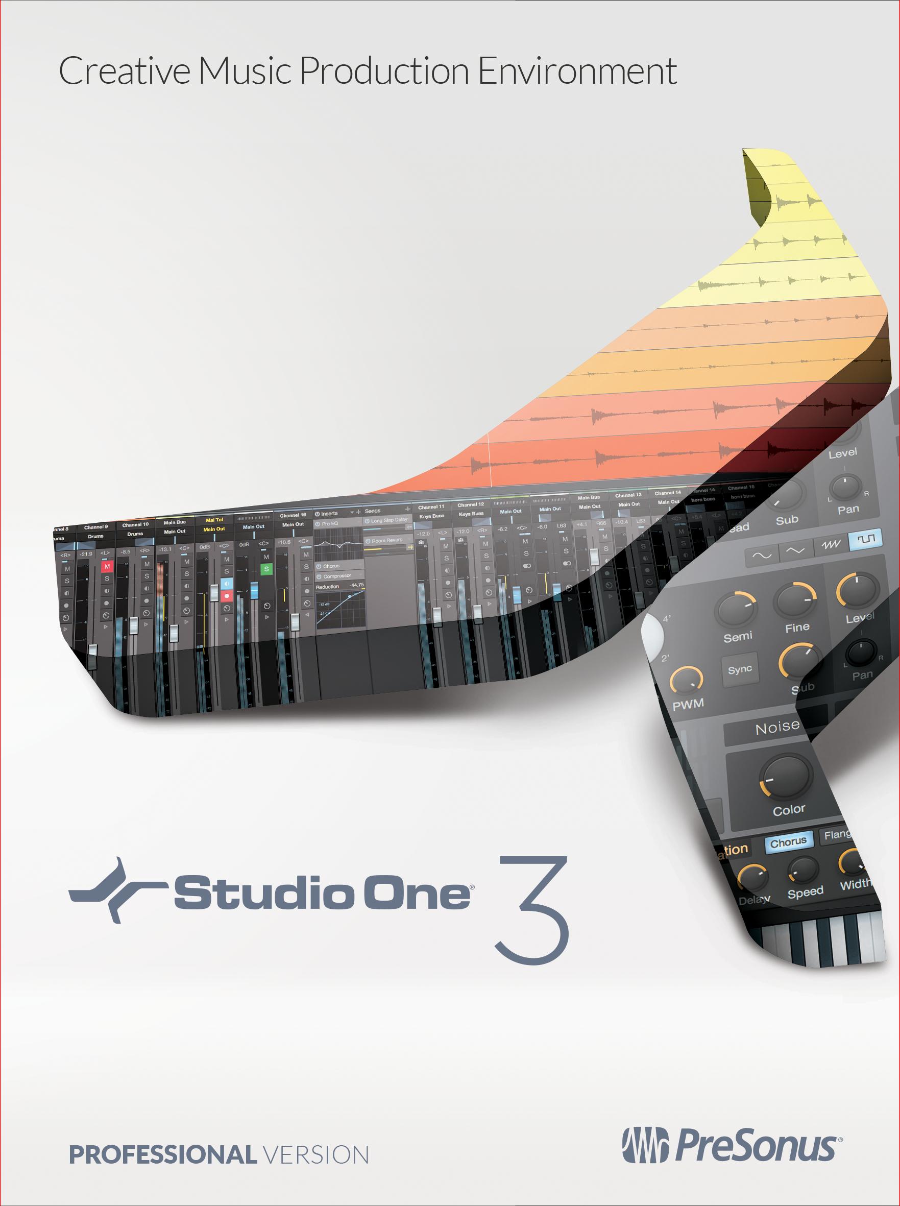 PreSonus Studio One 3 Professional (Online Product Key) [Online Code] (Digital Performer 7 Software)