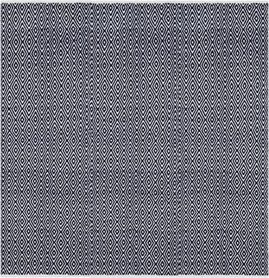 Safavieh Boston Collection BOS682D Handmade Navy Cotton Square Area Rug (8' Square)