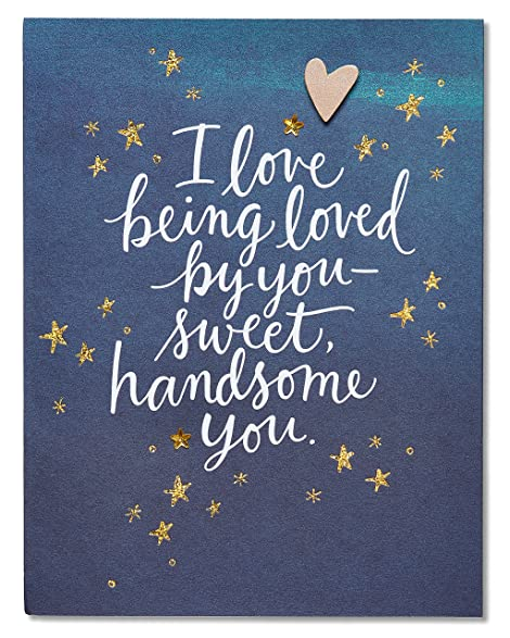 Amazon american greetings youre the one valentines day card american greetings youre the one valentines day card for him with rhinestones 5815829 m4hsunfo