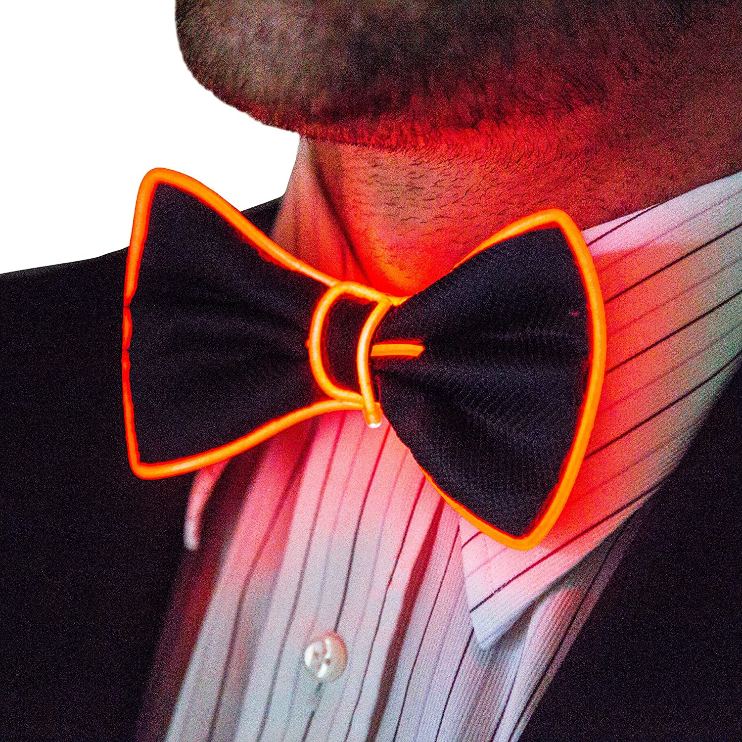 Neon Nightlife Light Up Bow Tie, One Size Aqua BOWTIE-AQUA