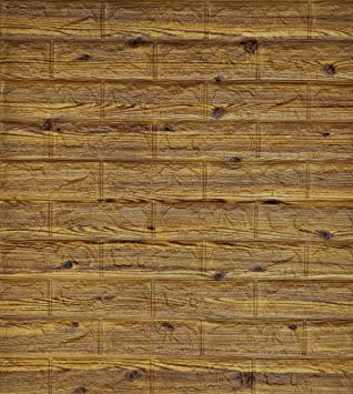 D Wall Stickers Woodgrain Selfadhesive Panel Decal PE Wallpaper - Wall decals wood
