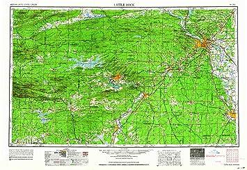 Amazon.com : YellowMaps Little Rock AR topo map, 1:250000 ...