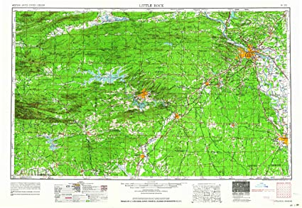 Amazon.com : YellowMaps Little Rock AR topo map, 1:250000 Scale, 1 X ...