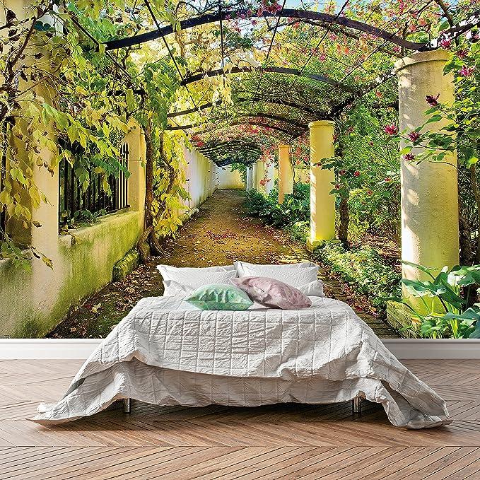 murimage Papel Pintado Dormitorio 366 x 254 cm Incluyendo Pegamento Fotomurales 3D Flor Naturaleza Rosa Boda jardín Amor Sala Living: Amazon.es: Bricolaje y herramientas