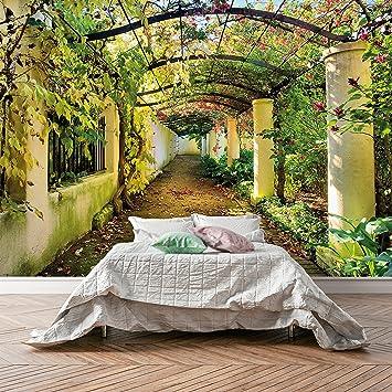 Fototapete Wedding Time 106 366 X 254cm Blumen Hochzeit Garten Pflanzen Wintergarten Pergola Romantik Liebe Tapete Inklusiv Kleister