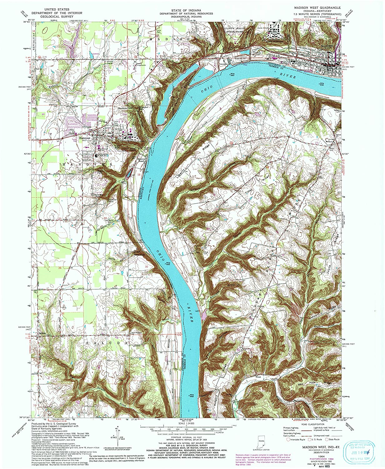 Amazon.com : YellowMaps Madison West in topo map, 1:24000 Scale, 7.5 ...