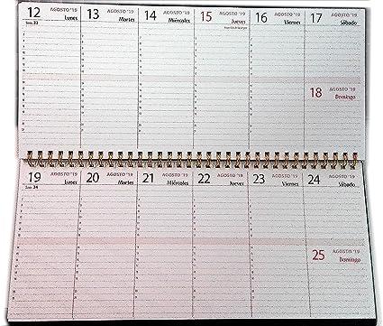 Planificador semanal de mesa - 30x14cm.- español: Amazon.es ...