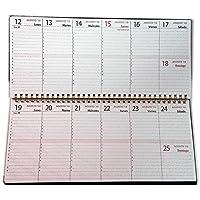 Planificador semanal de mesa 18 meses 2018 y 2019-30x14cm.