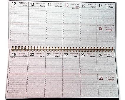 Planificador semanal de mesa - 30x14cm.- español