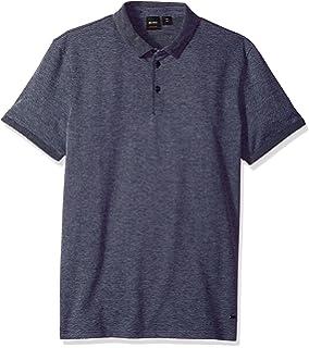 e78f47d0 BOSS Orange Men's Cotton Stretch Pique Polo with Contast Cuff and Collar
