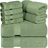 Utopia Towels - Premium Towel Set, Sage Green - 2 Bath Towels, 2 Hand Towels, and 4 Washcloths - 700 GSM Ring Spun Cotton Hig