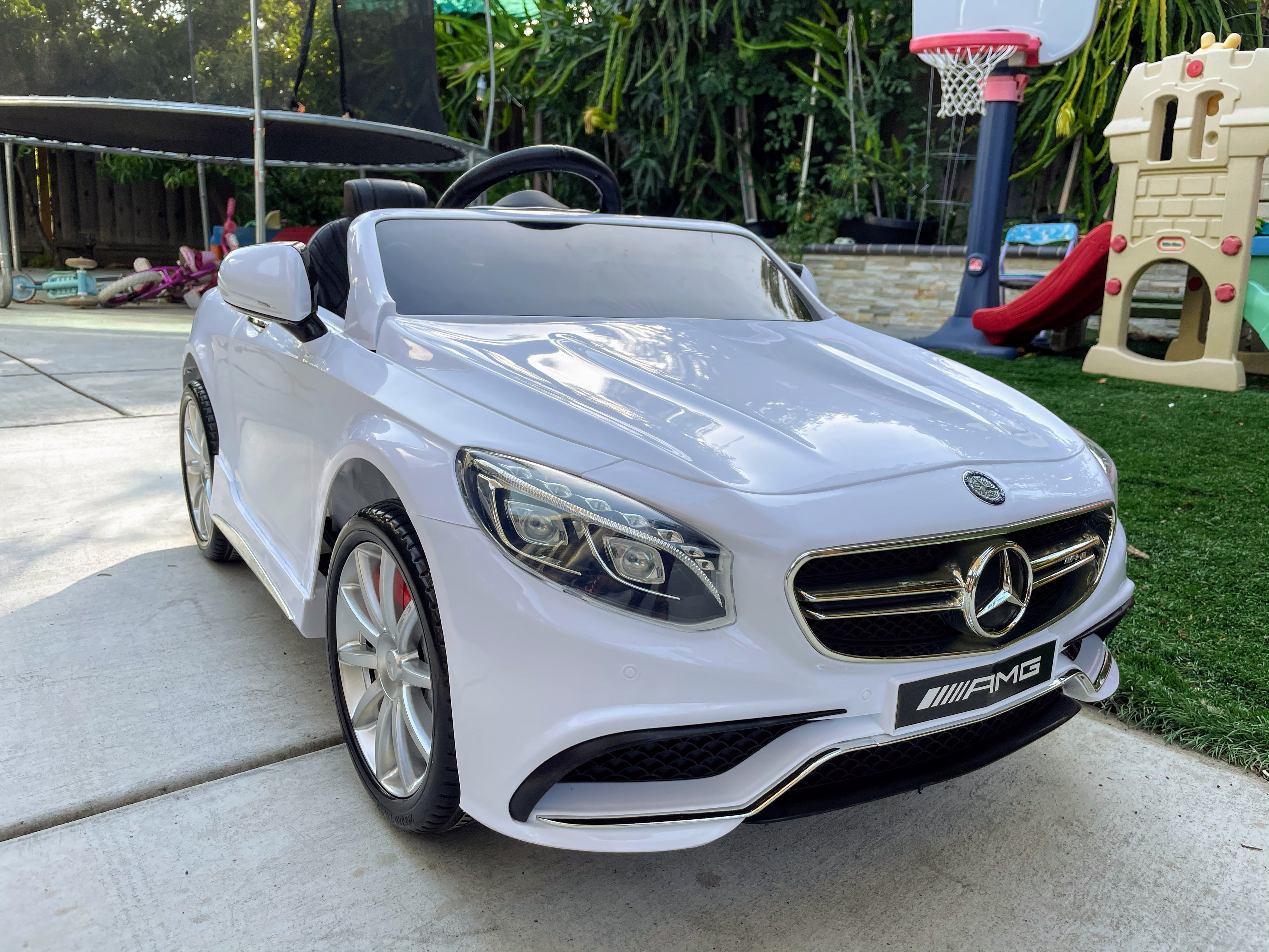 MercedesBenz GLC Licensed Kid's Electric Toy Car Vehicle, White photo review